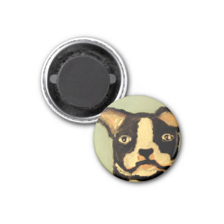 world of eric dog love 3 cm round magnet