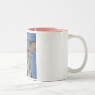 world of eric ginsburg erics land Two-Tone mug