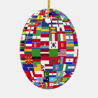 World Of Flags Christmas Ornament