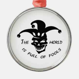 WORLD OF FOOLS Silver-Colored ROUND DECORATION