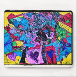 World of Hearts Drawings Mouse Pad