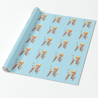 world of jellyfish wrapping paper