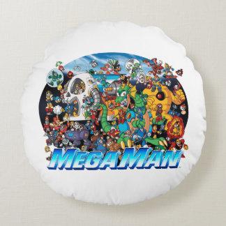 World of Mega Man 2 Round Cushion