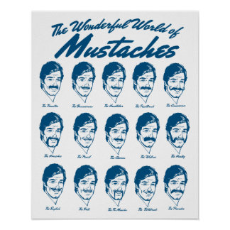World of Moustaches Poster