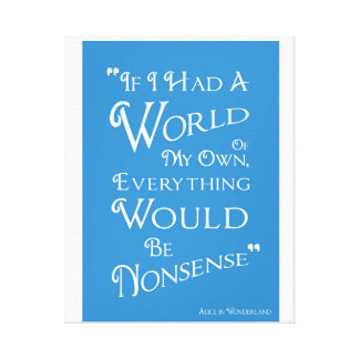 World of My Own - Alice Canvas Print