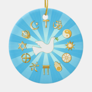 World of Peace Round Ceramic Decoration