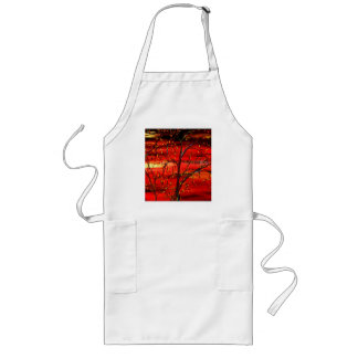World Of Red Long Apron