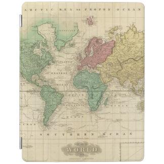 World on Mercators Projection 2 iPad Cover