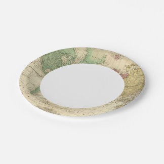 World on Mercators Projection 2 Paper Plate
