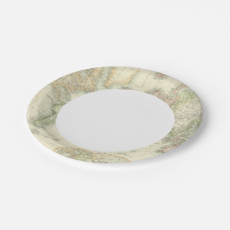 World On Mercator's Projection 7 Inch Paper Plate