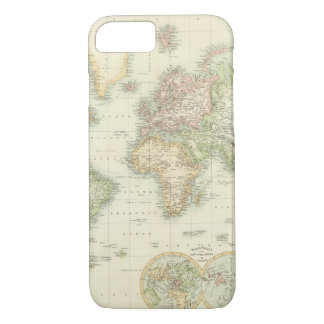 World On Mercator's Projection iPhone 8/7 Case