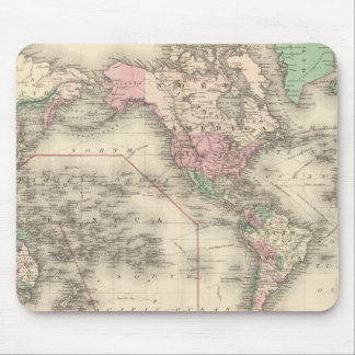 World on Mercator's Projection Mouse Mat