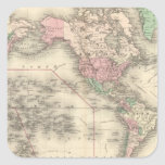 World on Mercator's Projection Square Sticker