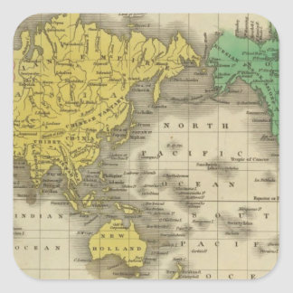 World On Mercator's Projection Sticker