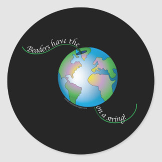 World On String Classic Round Sticker