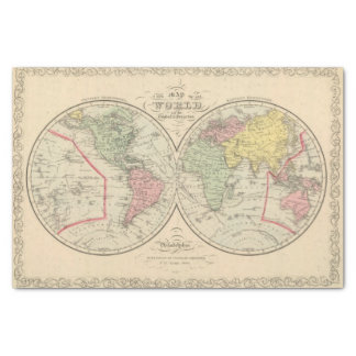 World on the Globular Projection Tissue Paper