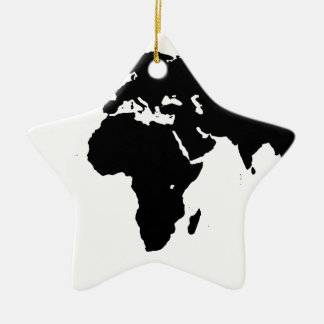 World Outline Christmas Ornament