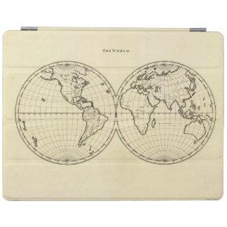 World outline double hemisphere iPad cover