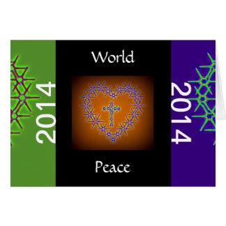 WORLD PEACE 2014 GREETING CARD