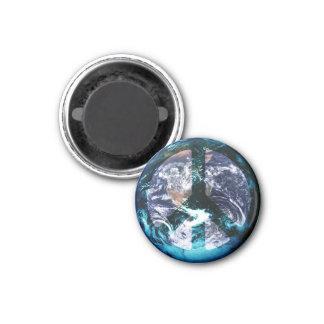 World Peace 3 Cm Round Magnet