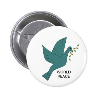 WORLD PEACE 6 CM ROUND BADGE