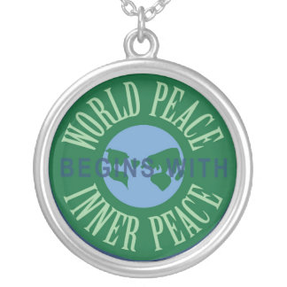World Peace Begins with Inner Peace Necklace