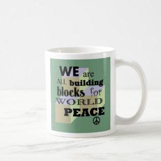 World Peace Building Blocks Coffee Mug