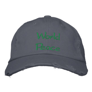 """""""World Peace"""" Cap Embroidered Hats"""