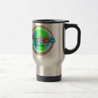 World Peace Cool Saying Artist Hippie Colorful Art Stainless Steel Travel Mug