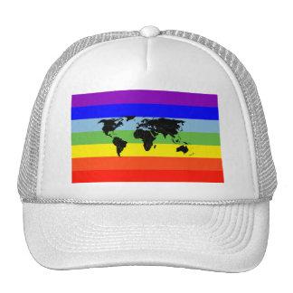 World Peace flag Trucker Hats