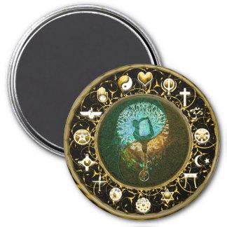 World Peace Harmony Balance 7.5 Cm Round Magnet