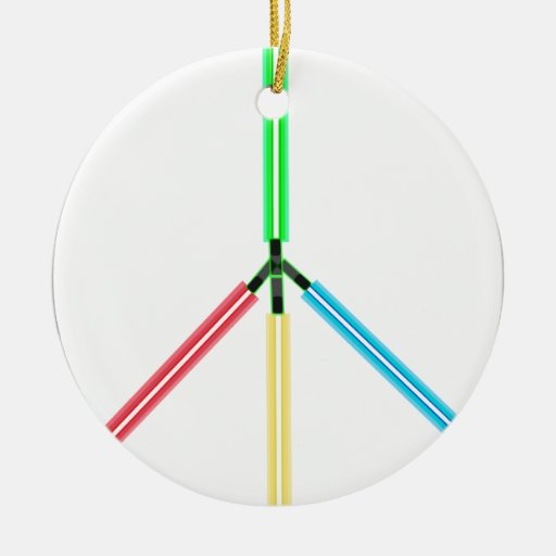 World Peace Laser Swords Christmas Ornament