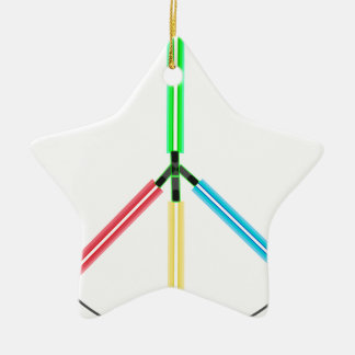 World Peace Laser Swords Christmas Tree Ornament