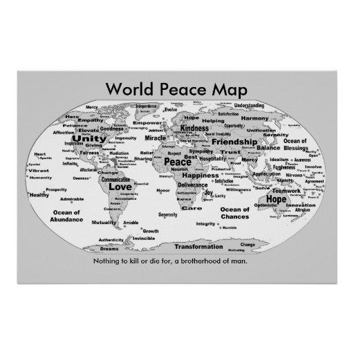 World Peace Map - Nothing to Die For Poster