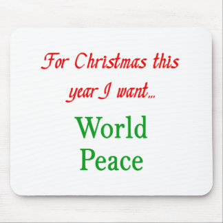 world peace mouse mat