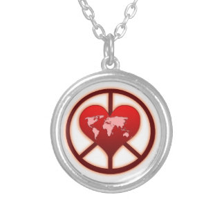 World Peace Round Pendant Necklace