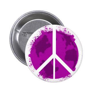 World Peace, Pink 6 Cm Round Badge
