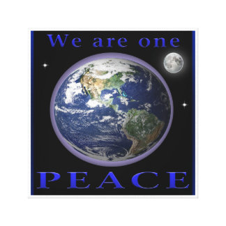 World Peace poster Canvas Print