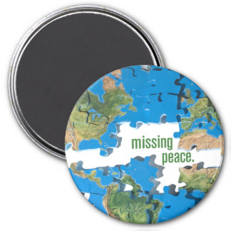 World Peace Puzzle 7.5 Cm Round Magnet
