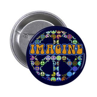 World Peace - Retro 6 Cm Round Badge