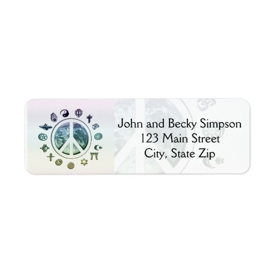 World Peace Return Address Label