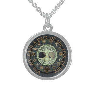World Peace Round Pendant Necklace