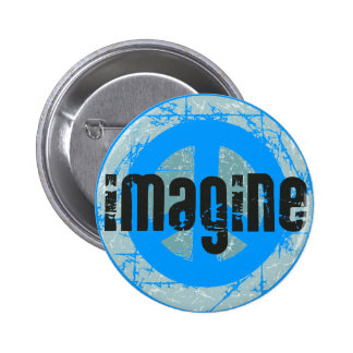 World Peace Sign 6 Cm Round Badge