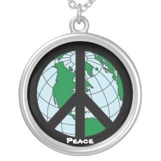 """""""World Peace"""" Silver Plated Necklace"""