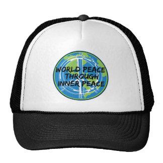 World Peace Through Inner Peace Trucker Hats