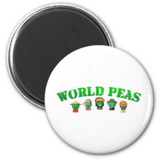 World Peas 6 Cm Round Magnet