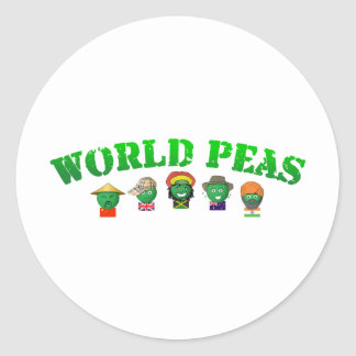 World Peas Classic Round Sticker