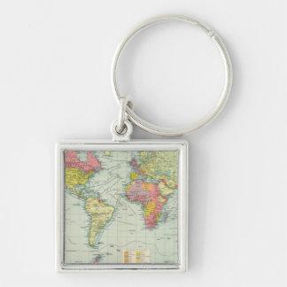 World political Map Key Ring