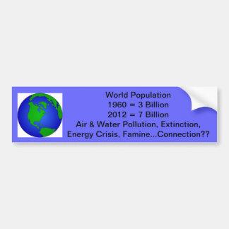 World Population Bumper Sticker