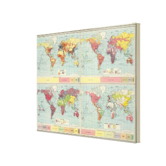 World population Map Canvas Print